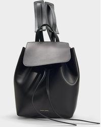 96c201a045081 Mansur Gavriel - Rucksack Mini Backpack aus schwarzem Kalbsleder und Rot -  Lyst