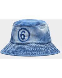 MM6 by Maison Martin Margiela Bob Hat In Denim - Blue