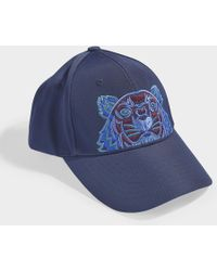 KENZO - Icon Cap In Navy Blue Synthetic Material - Lyst