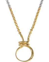 Charlotte Chesnais - Round Trip Necklace - Lyst