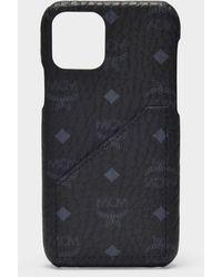 MCM I-Phone Hülle 11 Pro Max aus PVC Visetos schwarz