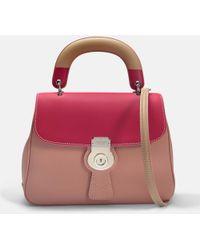 Burberry - Medium Dk88 Top Handle Bag In Ash Rose Embossed Calfskin - Lyst