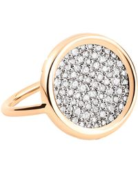 Ginette NY - Diamond Disc Ring - Lyst