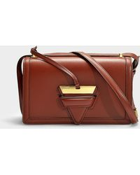 Loewe - Barcelona Bag In Brick Red Calfskin - Lyst