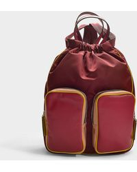 Marni - Carry All Backpack In Multicolour Calfskin - Lyst