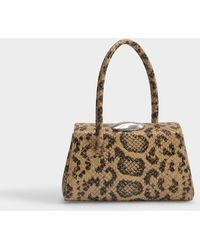 Little Liffner Baby Boss Bag In Leopard Embossed Leather - Brown