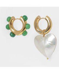 Timeless Pearly Boucles d'Oreilles à Perles - Métallisé
