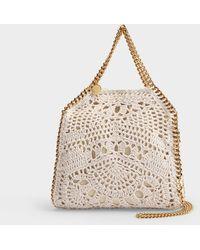 Stella McCartney Mini sac en crochet Falabella Shaggy Deer - Neutre