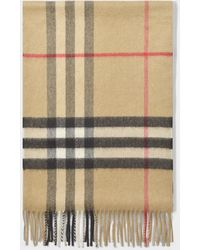 Burberry - Giant Icon Scarf In Camel Check Cashmere - Lyst