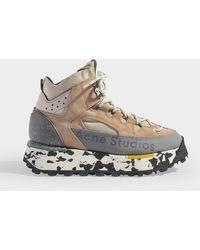 Acne Studios Hiking Boots Bertrand W en cuir de Veau Rose - Multicolore