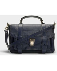 Proenza Schouler - Ps1 Medium Bag In Indigo Calfskin - Lyst