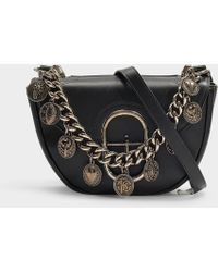 Roberto Cavalli - Coins Small Shoulder Bag In Black Calfskin - Lyst