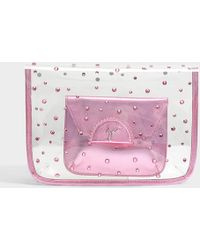 Giuseppe Zanotti - Transparent Clutch With Pouch In Pink Pvc - Lyst