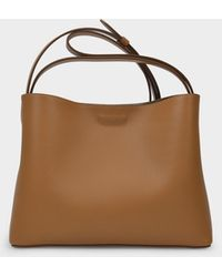 Aesther Ekme Mini Handbag In Brown Miel Leather