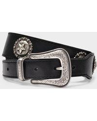 KATE CATE Princesa Belt In Black Leather
