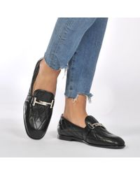 Tod's - Quilted Logo Loafer - Lyst