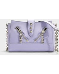 KENZO - Kalifornia Mini Shoulder Bag In Lavender Calfskin - Lyst