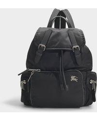 Burberry The Rucksack Medium Backpack In Black Nylon