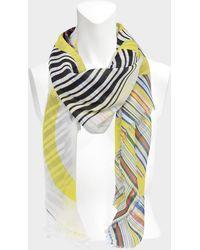 Loewe - 140x140 Shawl Anagram Stripes Scarf In Multicolour Wool And Silk - Lyst