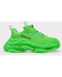 Balenciaga Sneakers Triple S Clear Sole grün