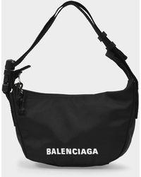 Balenciaga Wheel Sling Fanny Pack In Black Recycled Nylon