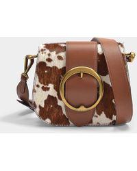 Polo Ralph Lauren - Lennox Medium Crossbody Bag In Brown And Cream Haircalf  - Lyst 87348f65f4