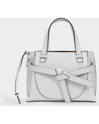 Loewe Sac Gate Mini Top Handle en Cuir Blanc