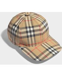 Burberry - Rainbow Vintage Check Baseball Cap In Beige And Multicolor Cotton - Lyst