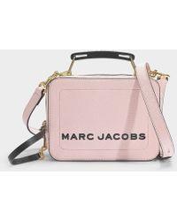 Marc Jacobs Sac The Box 20 en Cuir Blush - Rose