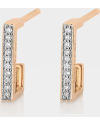 Ginette NY - Art Deco Hoop Earrings - Lyst