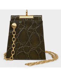 GU_DE Emma Bag In Khaki Leather - Green