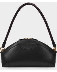 Stella McCartney Handbag Medium Zip In Black Synthetic Leather And Eco Nylon
