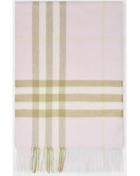 Burberry Giant Check Cashmere Scarf - Pink