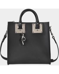 Sophie Hulme - Square Albion Tote Bag Silver Finish - Lyst