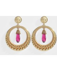 Roberto Cavalli - Strass Earrings - Lyst