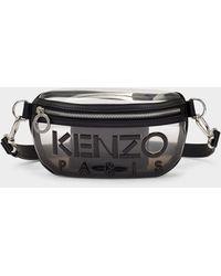 KENZO Kombo Bumbag In Black Tpu Leather