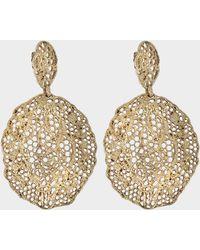 Aurelie Bidermann Lace Pendant Earrings - Metallic