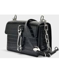 Alexander Wang - Hook Medium Crossbody Bag In Black Crocodile Embossed Calfskin - Lyst