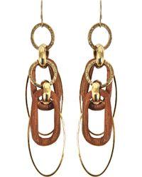 Aris Geldis - Short Wood Earrings - Lyst
