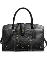 COACH - Mercer 30 Satchel Bag In Leather - Lyst