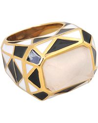 Isharya - Harlequin Op Art Pyramid Quartz Ring - Lyst