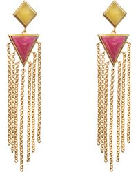 Isharya - Pyramid Quartz Fringe Exclusive Earrings - Lyst