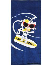 Karl Lagerfeld Beach Towel - Blue
