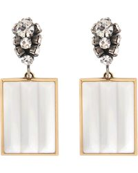 Marni - Strass And Resin Earrings - Lyst