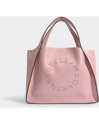 Stella McCartney Stella Logo Tote In Blush Eco Leather - Pink