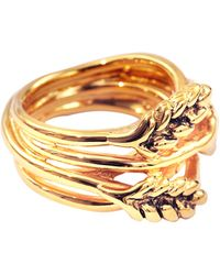 Aurelie Bidermann - Large Wheat Ring - Lyst