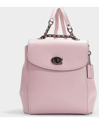 COACH - Signature Parker Backpack In Pink Calfskin - Lyst