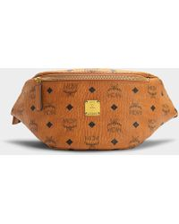 MCM - Stark Small Belt Bag In Cognac Pvc - Lyst