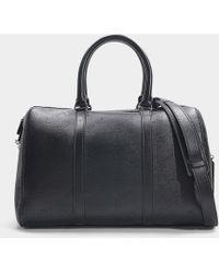 Stella McCartney - Medium Duffle Perforated Bag In Black Synthetic Material - Lyst