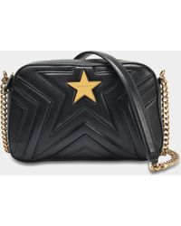 4a5c18633a Stella McCartney - Alter Nappa Small Shoulder Bag In Black Eco Leather -  Lyst